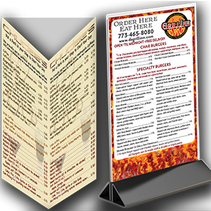 Menus, Table Tents, Posters